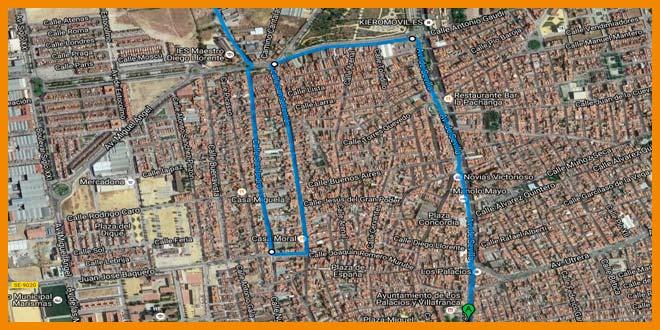 Ultimos kilómetros de la 39 Media Maraton Sevilla Los Palacios 2017 | voyacorrer.com