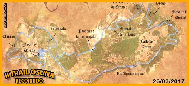 Recorrido de la Trail Osuna El Calvario del Dragon | voyacorrer.com