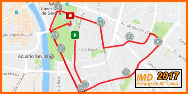 Carrera popular IMD Parque de Maria Luisa 2017 - voyacorrer.com