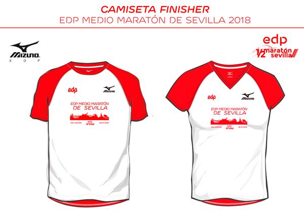 Camiseta de la media maraton de Sevilla 2018 / voyacorrer.com