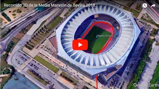 Recorrido de la Media Maraton de Sevilla \ voyacorrer.com