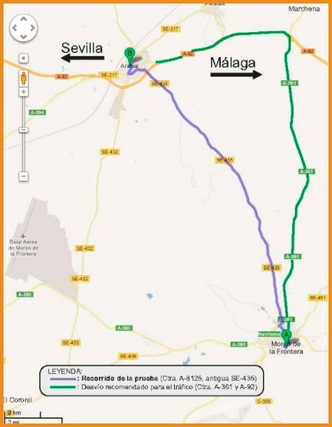 recorrido de la media maraton cal y olivo - voyacorrer.com
