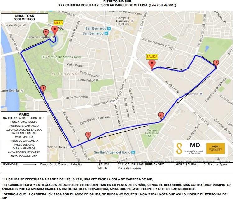 Carrera popular IMD Parque de Maria Luisa | voyacorrer.com